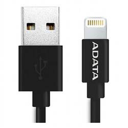 ADATA A-Data USB - Lightning, 2.4A, Black pentru iPhone, iPad si iPod (AMFIPL-100CM-CBK)