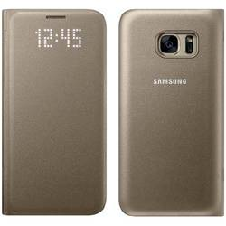 Husa protectie Led View Cover pentru Samsung Galaxy S7 (G930), EF-NG930PFEGWW Gold