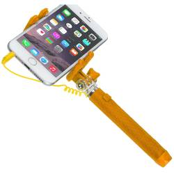 Selfie Stick KitVision Pocket, control actionare shutter pe fir, KVPKSSWOR Orange