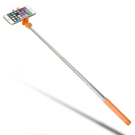 Selfie Stick KitVision Pocket, control actionare shutter pe bluetooth, KVPKBTSSOR Orange