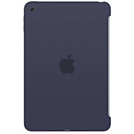 Husa Apple Silicone Case pentru iPad mini 4, MKLM2ZM/A Midnight Blue