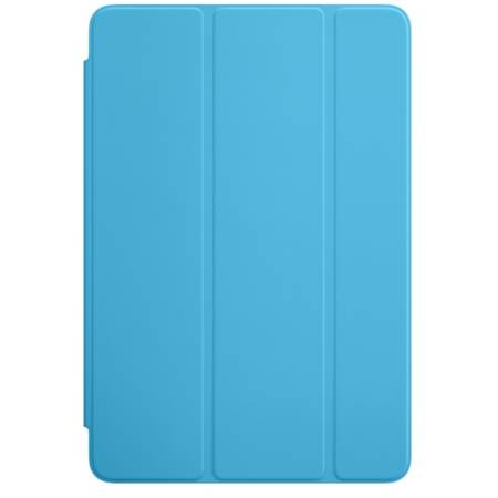 Husa Stand Apple Smart Cover pentru iPad mini 4, MKM12ZM/A Blue