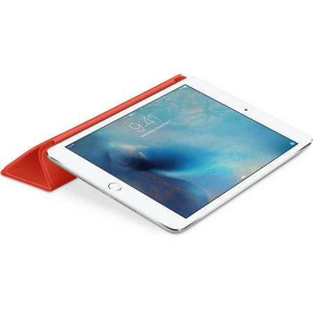 Husa Stand Apple Smart Cover pentru iPad mini 4, MKM22ZM/A Orange