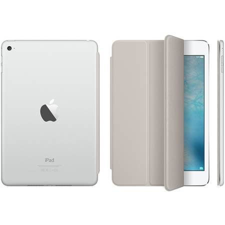 Husa Stand Apple Smart Cover pentru iPad mini 4, MKM02ZM/A Stone