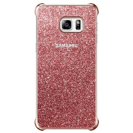 Capac protectie Glitter Cover Pink pentru Samsung Galaxy S6 Edge+