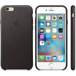 Capac protectie spate Apple Leather Case Premium Black pentru iPhone 6s
