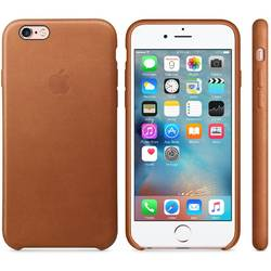 Capac protectie spate Apple Leather Case Premium Saddle Brown pentru iPhone 6s