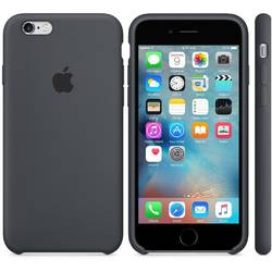 Capac protectie spate Apple Silicone Case Charcoal Gray pentru iPhone 6s Plus