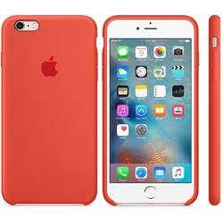 Capac protectie spate Apple Silicone Case Orange pentru iPhone 6s Plus