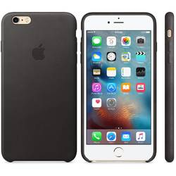Capac protectie spate Apple Leather Case Premium Black pentru iPhone 6s Plus