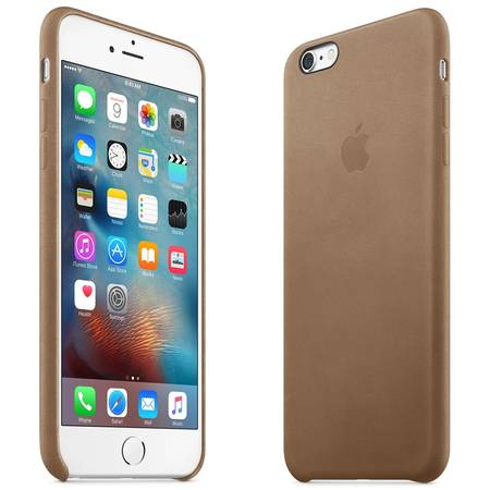 Capac protectie spate Apple Leather Case Premium Saddle Brown pentru iPhone 6s Plus