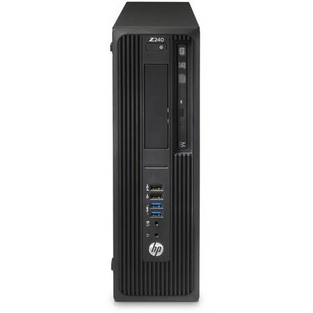 Sistem Desktop Workstation HP Z240 SFF, Procesor Intel Core i7-6700 8M Cache, up to 4.00 GHz, 8GB, 1TB, Intel HD Graphics 530, Win10 Pro, Tastatura+Mouse