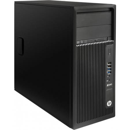 Sistem Desktop Workstation HP Z240T, Procesor Intel Xeon E3-1245 v5 8M Cache, 3.50 GHz, 8GB, 256GB SSD, Intel HD Graphics P530, Win 10 Pro, Tastatura+Mouse