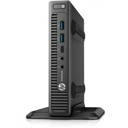 Mini Desktop HP EliteDesk 800 G2, Procesor Intel Core i3-6100T 3M Cache, 3.20 GHz, Skylake, 4GB, 500GB, Intel HD Graphics 530, Win 10 Pro, Tastatura+Mouse