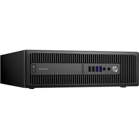 Sistem Desktop HP EliteDesk 800 G2 SFF, Procesor Intel Core i3-6100 3M Cache, 3.70 GHz, Skylake, 4GB, 500GB, Intel HD Graphics 530, Win 10 Pro, Tastatura+Mouse