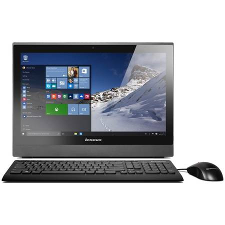 "Sistem Desktop All-In-One Lenovo S400Z, 21.5"" FHD, Procesor Intel Core i5-6200U 2.3GHz Skylake, 4GB, 1TB + 8GB SSH, GMA HD 520, Win 10 Pro, Black, Monitor Stand"