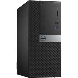 Sistem Desktop Dell OptiPlex 7040 MT Procesor Intel Core i7-6700 8M Cache, up to 4.00 GHz, Skylake, 8GB, 500GB , Ubuntu, Tastatura+Mouse