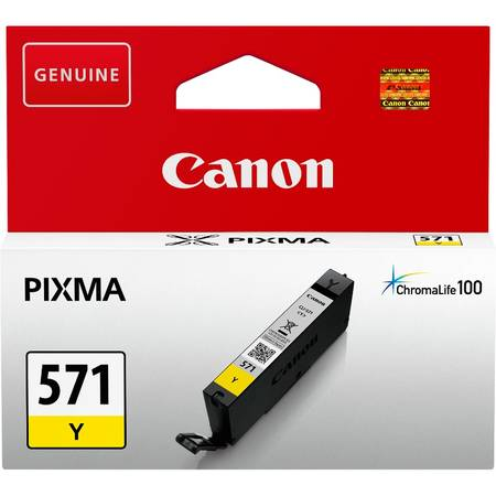 Cartus cerneala Canon CLI-571Y, yellow, capacitate 7ml