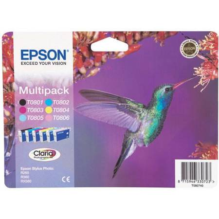 Cartus cerneala Epson T0807, multipack cyan,magena,yellow,black,light cyan,light magenta