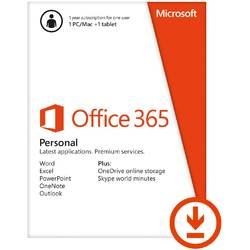 Microsoft Office 365 Personal, 1 an, 1 PC/MAC si 1 tableta, All Languages, Licenta Electronica, ESD