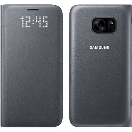 Husa protectie Led View Cover pentru Samsung Galaxy S7 (G930), EF-NG930PBEGWW Black