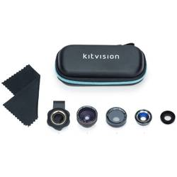Set lentile smartphone 4 in 1 – Macro & Fish-eye & Wide Angle & Polarising, Kitvision KV41LENS