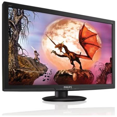 "Monitor LED Philips 27"", Wide, Full HD, DVI, HDMI, Boxe, Negru, 273E3LHSB"