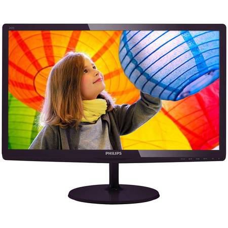 "Monitor LED Philips 23.6'"", Wide, Full HD, DVI-D, Black Cherry, 247E6LDAD/00"