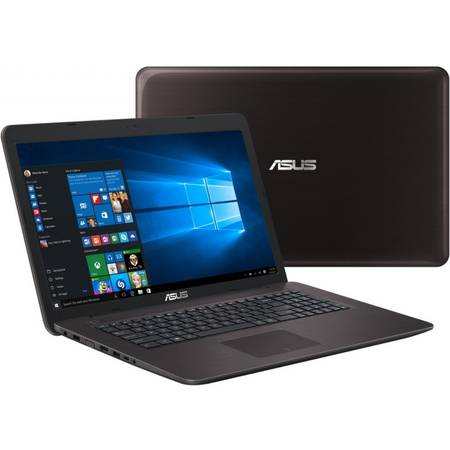 Laptop ASUS F756UX-T4023D, 17.3'' FHD, Intel Core i7-6500U, up to 3.10 GHz, 8GB, 2TB + 16GB SSD, GeForce GTX 950M 4GB, FreeDos, Dark Brown