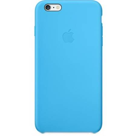 Husa de protectie Apple pentru iPhone 6 Plus, Silicon, Blue