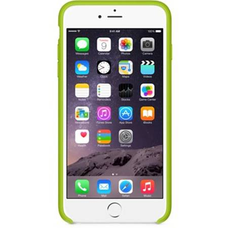 Husa de protectie Apple pentru iPhone 6 Plus, Silicon, Green