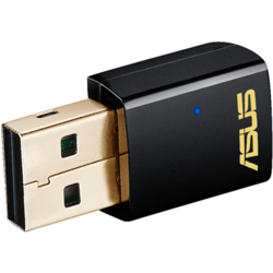 Adaptor USB Wireless ASUS USB-AC51 AC600, Dual Band 150 + 433Mps, negru