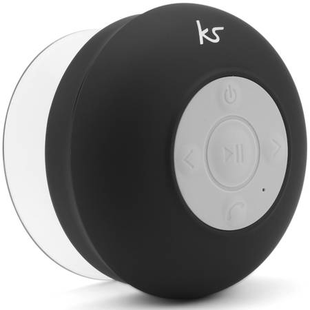 Boxa portabila cu bluetooth KitSound Rinse Shower Speaker, KSRINSEBK Black