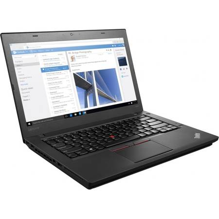 Laptop Lenovo 14'' Thinkpad T460, FHD, Intel Core i5-6200U (3M Cache, up to 2.80 GHz), 4GB, 500GB, GMA HD 520, FingerPrint Reader, Win 7 Pro + Win 10 Pro