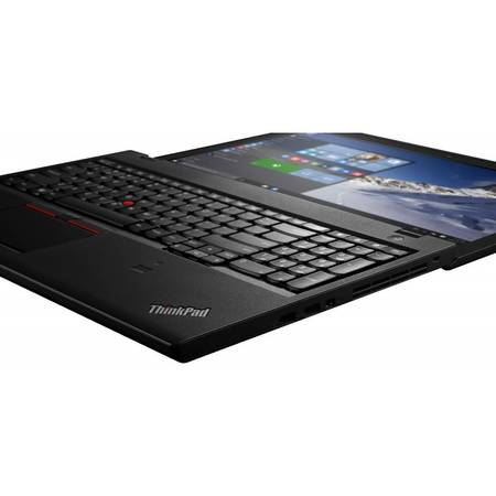 Laptop Lenovo 15.6'' ThinkPad T560, FHD IPS, Intel Core i5-6200U (3M Cache), 8GB, 256GB SSD, GMA HD 520, 4G LTE, FingerPrint Reader, Win 7 Pro + Win 10 Pro, Black