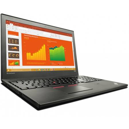 Laptop Lenovo 15.6'' ThinkPad T560, FHD IPS, Intel Core i5-6200U (3M Cache), 4GB, 500GB + 8GB SSH, GMA HD 520, Win 7 Pro + Win 10 Pro, Black