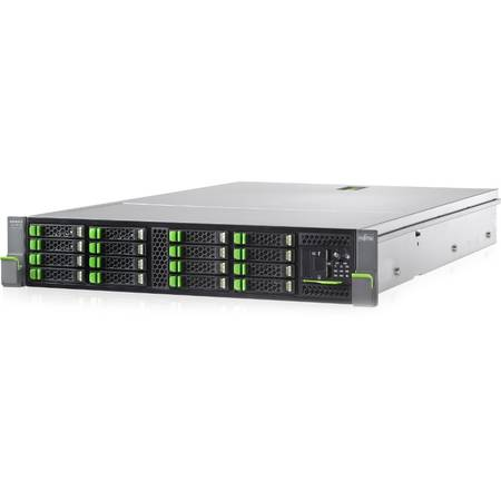 "Server Fujitsu Primergy RX2520 M1, Intel Xeon E5-2420 v2, 1x8GB 1600MHz, No HDD, Maxim 8x2.5"", 1x450W PSU"