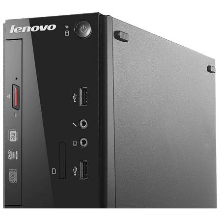 Sistem Desktop Lenovo S500 SFF, Procesor Intel Pentium G3260 3.3GHz Haswell, 4GB DDR3, 1TB HDD, GMA HD, WiFi, FreeDos, Black