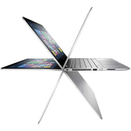 Laptop convertibil HP Spectre Pro x360 G2, 13.3 inch LED(1920x1080),Touchscreen, Intel Core i5-6200U (2.3GHz, up to 2.8GHz, 3MB), 8 GB, SSD 128GB, Windows 10 Pro 64