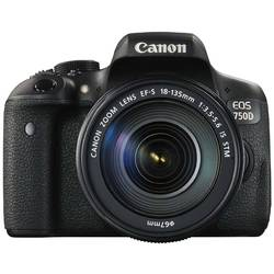 Aparat foto DSLR Canon EOS 750D, 24.2MP + Obiectiv EF-S 18-135mm IS STM