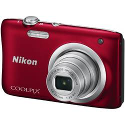 Aparat foto digital Nikon COOLPIX A100, 20.1MP, Card 8GB, Husa, Rosu