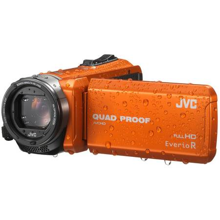 Camera video JVC Quad-Proof R GZ-R415DEU, Full HD, Portocaliu