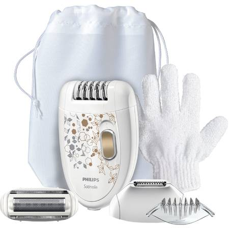 Philips Epilator Satinelle HP6425/01, 2 viteze, discuri ceramice, Smart light