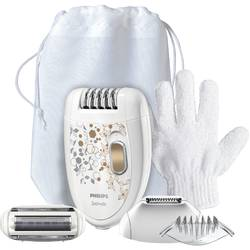 Philips Epilator Satinelle HP6425/01, 2 viteze, 3 capete, discuri ceramice, Smart light, 20 pensete, alb
