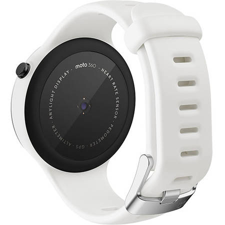 Smartwatch Motorola Moto 360 42MM 2nd Gen Sport Silicon Alb