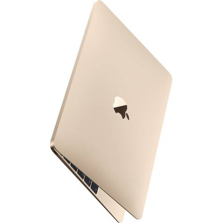 Laptop Apple MacBook, 12'', Skylake Core M 1.2GHz, 8GB, 512GB SSD, GMA HD 515, Mac OS X El Capitan, INT keyboard, Gold