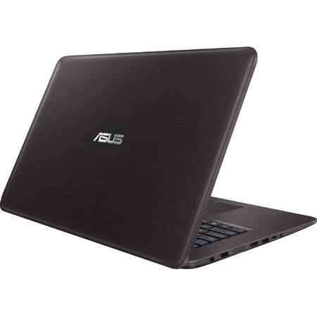 Laptop ASUS X756UB, 17.3'' HD+, Intel Core i5-6200U (3M Cache, up to 2.80 GHz), 4GB, 2TB + 16GB SSD, GeForce 940M 2GB, FreeDos, Dark Brown