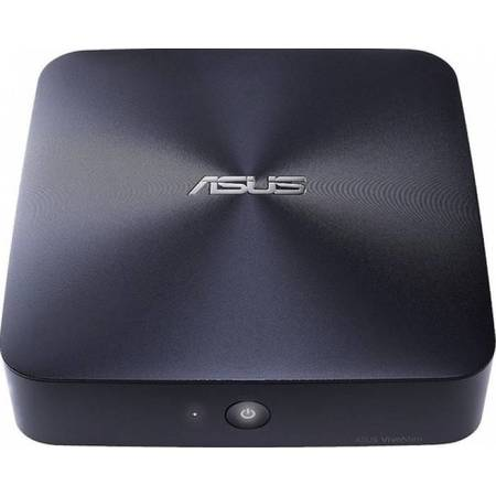 Mini Desktop ASUS VivoMini UN65, Procesor Intel Core i3-6100U 2.3GHz Skylake, 2x DDR3 16GB max, no HDD, M.2 slot, GMA HD 520, Wi-Fi, Bluetooth, USB 3.0, Midnight Blue