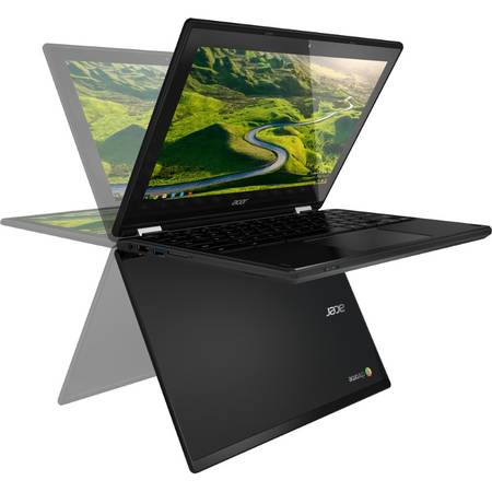 Laptop 2-in-1 Acer Chromebook R11, Display 11.6'' HD, Intel Celeron Dual Core N3050, up to 2.16 GHz, 2GB, 32GB eMMC, GMA HD, Chrome OS, Black, no ODD