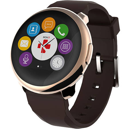 Smartwatch MyKronoz ZeRound Black/Yellow Gold Auriu